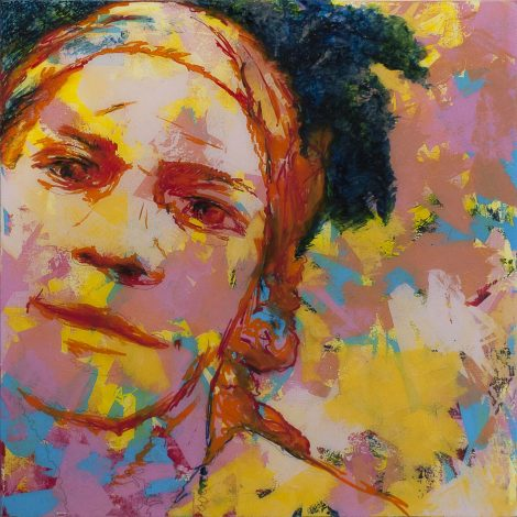 Michel BASSET ; portrait de J.M. Basquiat