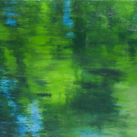 Michel BASSET ; Reflets dans l'eau