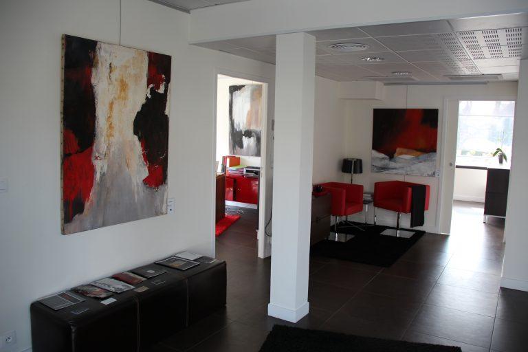 Œuvres de l'artiste Simone SOUQUE exposées au sein de l'agence Evidence Immobilier Biarritz