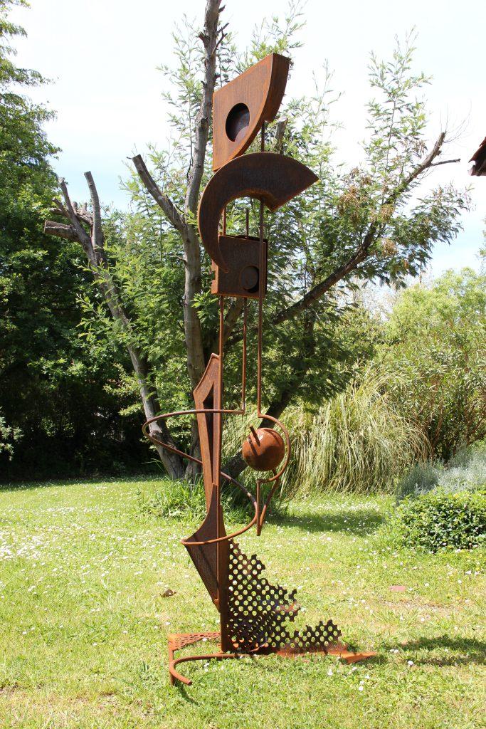 POLLEN - sculpture de Gilles PLANTADE - acier Corten