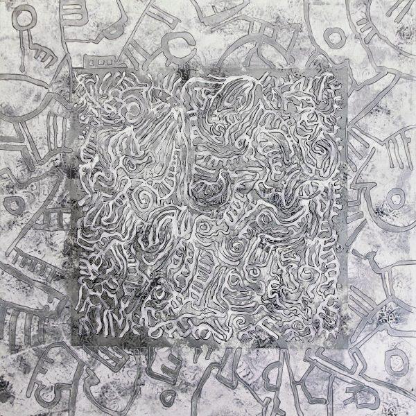 Tableau n°4188 - Artiste Franck CAVADORE - Dimensions 90x90cm -