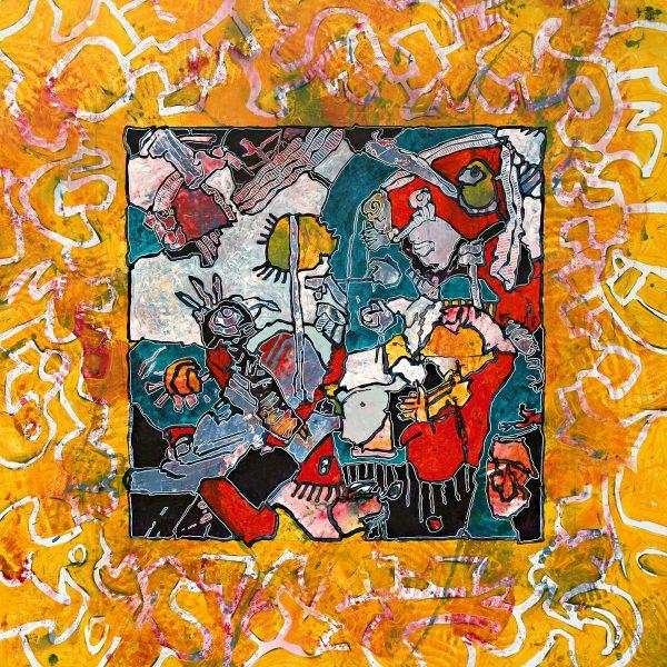 Tableau n°8141 - Artiste Franck CAVADORE - Dimensions 90X90cm -