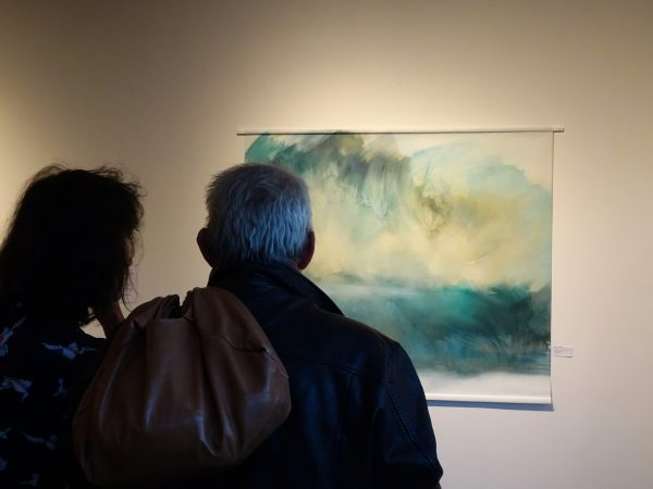 Sur les bords du Léthé tableau de Nadine ARRIETA in situ