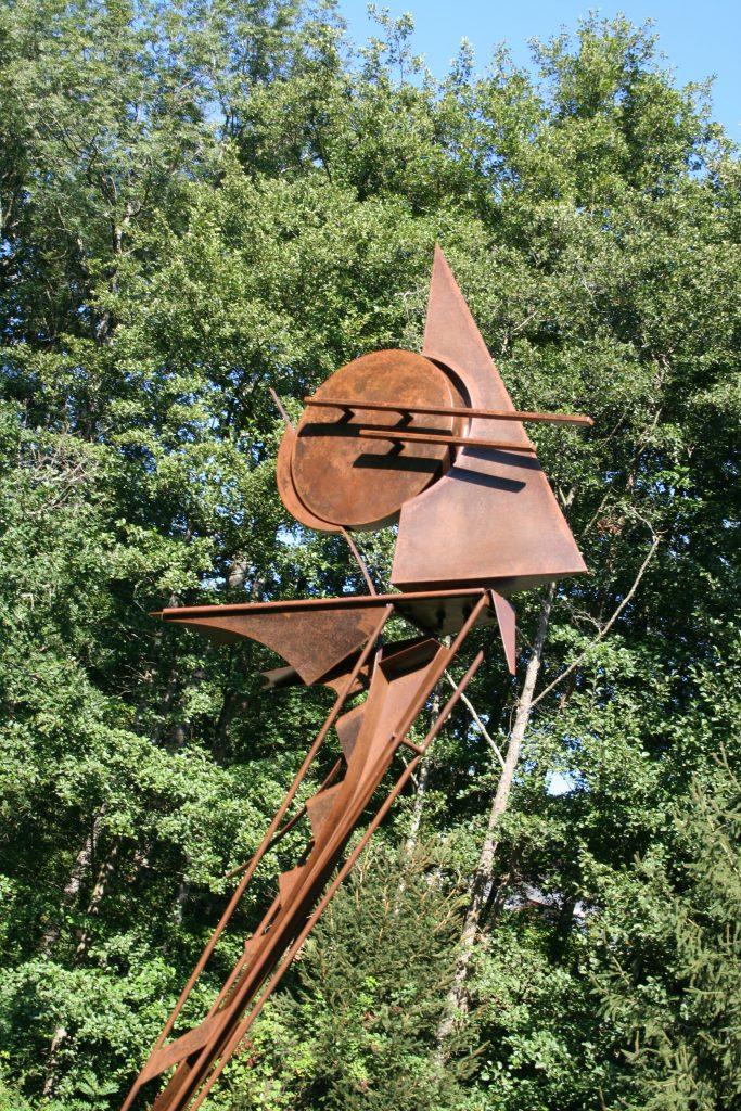 TSURU - sculpture de Gilles PLANTADE - acier Corten - détail
