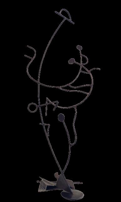 PAS SEUL- sculpture de Gilles PLANTADE
