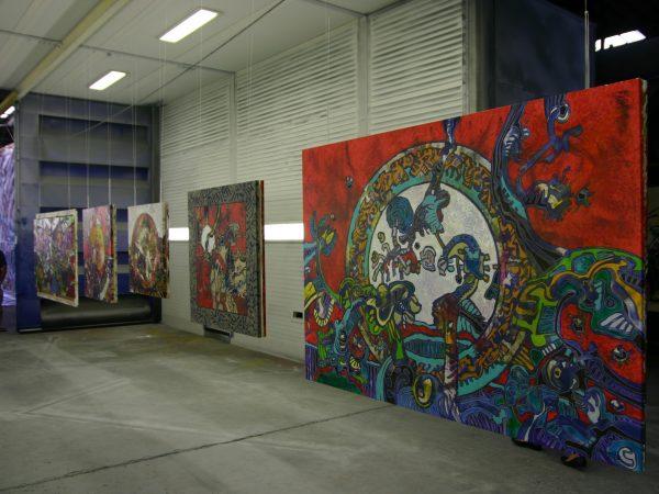 Œuvres de l'artiste Franck CAVADORE exposées lors de l'évènement Atelier Indus Bât Bayonne en 2009 - 3