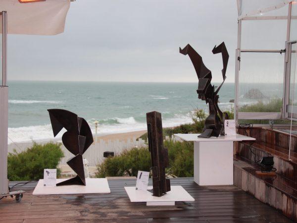 Œuvres du sculpteur Gilles PLANTADE exposées lors de l'évènement Le Blue Cargo Bidart en 2014